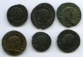 Ancients:Ancient Lots  , Ancients: ANCIENT LOTS. Roman Imperial. Lot of six (6) BI folles.VF-XF.... (Total: 6 coins)