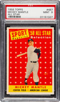Baseball Cards:Singles (1950-1959), 1958 Topps Mickey Mantle All Star #487 PSA Mint 9 - None Higher....