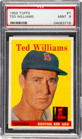 Baseball Cards:Singles (1950-1959), 1958 Topps Ted Williams #1 PSA Mint 9 - None Higher....