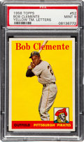 Baseball Cards:Singles (1950-1959), 1958 Topps Bob Clemente (Yellow Letters) #52 PSA Mint 9....