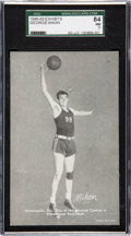 """Basketball Cards:Singles (Pre-1970), 1948 Exhibits """"Sports Champions"""" George Mikan SGC 84 NM 7 - Pop One, None Higher! ..."""