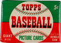 Baseball Cards:Unopened Packs/Display Boxes, 1952 Topps Baseball Five-Cent Wax Pack. ...