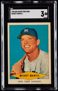 Baseball Cards:Singles (1950-1959), 1954 Red Heart Mickey Mantle SGC VG 3....