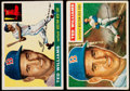 Baseball Cards:Lots, 1955 & 1956 Topps Ted Williams Pair (2)....
