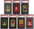 Baseball Cards:Lots, 1911 T205 Gold Borders PSA EX-MT 6 Graded Collection (7). ...