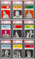 Basketball Cards:Lots, 1961 Fleer Basketball PSA-Graded Collection (9). ...