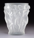 Art Glass:Lalique, Lalique Frosted Glass Bacchantes Vase. Post-1945. EngravedLalique, France. Ht. 9-1/2 in.. ...