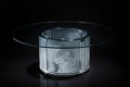 Art Glass:Lalique, Lalique Clear and Frosted Glass Trois Lionesses Coffee TableSigned by Marie Claude Lalique. Circa 1992. Engrave...