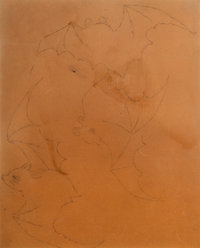 Three Rene Lalique Ink and Gouache Concept Drawings Circa 1915. Ht. 10-1/2 x Wd. 8-1/4 in. (largest, sight)