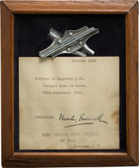 Neil Armstrong: Small Section of Girder From the WWI German Zeppelin L.32 Brought Down Near Essex, England, September 30...