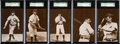 Baseball Cards:Lots, 1907-09 PC765-2 Dietsche Chicago Cubs SGC-Graded Collection (5).... (Total: 5 items)