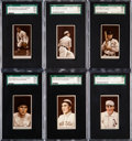 Baseball Cards:Lots, 1912 T207 Recruit SGC 70 EX+ 5.5 Collection (6). ... (Total: 7items)