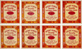 Football Cards:Sets, 1934 Goudey Sports King Varsity Football Game Complete Set (24)....