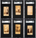 Baseball Cards:Lots, 1887-90 N172 Old Judge SGC-Graded Collection (6). ... (Total: 6items)