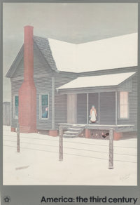 Velox Benjamin Ward (American, 1901-1994) The Home My Daddy Built, 1983 Exhibition poster 31 x 22... (Total: 2)