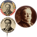 Political:Pinback Buttons (1896-present), William Howard Taft: Three Picture Pins....