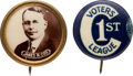"""Political:Pinback Buttons (1896-present), James M. Cox: Pair of 5/8"""" Buttons.... (Total: 2 Items)"""