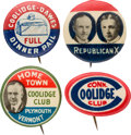 """Political:Pinback Buttons (1896-present), Calvin Coolidge: Four Assorted 7/8"""" Campaign Buttons...."""
