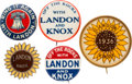 Political:Pinback Buttons (1896-present), Alf Landon: Assorted Name and Slogan Pins....