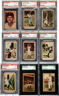 Baseball Cards:Sets, 1952 Berk Ross Baseball PSA/SGC Graded Partial Set (27/72). ...