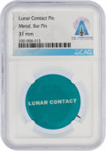 """Explorers:Space Exploration, Apollo 11: Vintage Grumman """"Lunar Contact"""" Pinback Button Directly From The Armstrong Family Collection™, Certified and En..."""