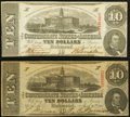 Confederate Notes:1863 Issues, T59 $10 1863 PF-5 Cr. 431 and PF-11 Cr. 429.. ... (Total: 2 notes)