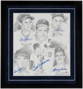 Autographs:Photos, Boston Red Sox Multi-Signed & Framed Display (5 Signatures)with Ted Williams....