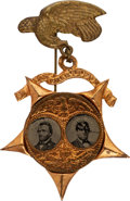 Political:Ferrotypes / Photo Badges (pre-1896), Grant & Colfax: Porthole Ferrotype Jugate. ...