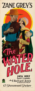 "Movie Posters:Western, The Water Hole (Paramount, 1928). Rolled, Very Fine. Insert (14"" X 36""). Western.. ..."