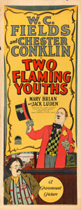 """Movie Posters:Comedy, Two Flaming Youths (Paramount, 1927). Insert (14"""" X 36"""").. ..."""