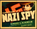 """Movie Posters:Drama, Confessions of a Nazi Spy (Warner Brothers, 1939). Linen FinishTitle Lobby Card (11"""" X 14"""").. ..."""