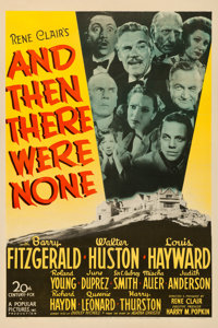 """And Then There Were None (20th Century Fox, 1945). One Sheet (27"""" X 41""""). From the Collection of Frank Buxton..."""