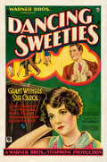 "Movie Posters:Comedy, Dancing Sweeties (Warner Brothers, 1930). One Sheet (27"" X 41"").From the Collection of Frank Buxton, of which the sale's ..."