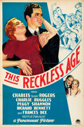 """Movie Posters:Comedy, This Reckless Age (Paramount, 1932). One Sheet (27"""" X 41"""") Style A.From the Collection of Frank Buxton, of which the sale..."""
