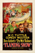 """Movie Posters:Comedy, Flaming Snow (Universal, 1927). One Sheet (27"""" X 41""""). From theCollection of Frank Buxton, of which the sale's proceeds w..."""