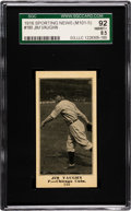 Baseball Cards:Singles (Pre-1930), 1916 M101-5 Sporting News (Blank Back) Jim Vaughn #180 SGC 92NM/MT+ 8.5....