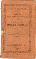 Political:Small Paper (pre-1896), Andrew Jackson: 1828 Campaign Biography in Titled Wraps....