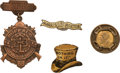 Political:Ferrotypes / Photo Badges (pre-1896), Grover Cleveland and Benjamin Harrison: Four Assorted Badges. ...