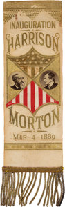 Political:Ribbons & Badges, Harrison & Morton: One of the Most Spectacular Inaugural Ribbon Designs We Have Seen....
