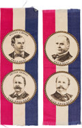 Political:Ribbons & Badges, Bryan & Sewall and McKinley & Hobart: A Matched Pair of Jugate Ribbons in Pristine Condition.... (Total: 2 Items)