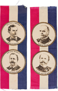 Bryan & Sewall and McKinley & Hobart: A Matched Pair of Jugate Ribbons in Pristine Condition