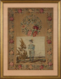 Political:Textile Display (pre-1896), Zachary Taylor: Large Framed Embroidery Dated 1850....