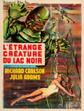 """Movie Posters:Horror, Creature from the Black Lagoon (Universal International, R-1962). French Moyenne (23.6"""" X 31"""").. ..."""
