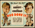"""Movie Posters:Comedy, Who Done It? (Universal, 1942). Title Lobby Card (11"""" X 14"""").From the Collection of Frank Buxton, of which the sale'spro..."""