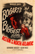 "Movie Posters:War, Action in the North Atlantic (Warner Brothers, 1943). One Sheet(27"" X 41"") From the Warner Media Archive...."