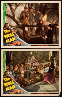 """The Wolf Man (Universal, 1941). Lobby Cards (2) (11"""" X 14""""). ... (Total: 2 Items)"""