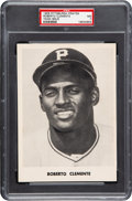 Baseball Cards:Singles (1950-1959), 1958 Pittsburgh Pirate Team Issue Roberto Clemente PSA NM 7 - PopOne, One Higher. ...