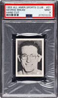 Basketball Cards:Singles (Pre-1970), 1955 All American Sports Club George Mikan #21 PSA Mint 9 - Pop One, None Higher! ...
