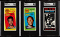 Basketball Cards:Lots, 1970 Topps Basketball SGC Graded Trio (3) - Baylor AS, Robertson AS& Chamberlain Game 6. ...