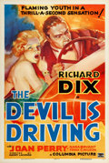 """Movie Posters:Crime, The Devil is Driving (Columbia, 1937). One Sheet (27"""" X 41"""") Style C.. ..."""